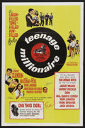 "Movie Posters:Rock and Roll, Teenage Millionaire (United Artists, 1961). One Sheet (27"" X 41"").Rock and Roll. ..."