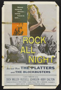 """Movie Posters:Crime, Rock All Night (American International, 1957). One Sheet (27"""" X 41""""). Crime.. ..."""