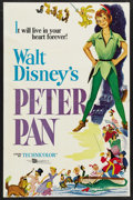 "Movie Posters:Animated, Peter Pan (Buena Vista, R-1969). One Sheet (27"" X 41""). Animated...."