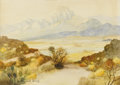 Texas:Early Texas Art - Impressionists, W. FREDERICK JARVIS (1898-1966). Untitled West TexasLandscape. Watercolor on paper. 14 x 20 inches (35.6 x 50.8cm). Si...