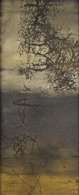 ROBERT PREUSSER (1919-1992)Asian Mist, 1957 Oil and mixed media on canvas 72 x 30 inches (182.9