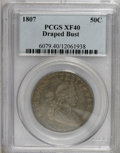 Early Half Dollars, 1807 50C Draped Bust XF40 PCGS....