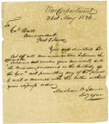 Autographs:Statesmen, Mirabeau Lamar Autograph Letter Signed as Secretary of War...