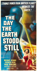 "Movie Posters:Science Fiction, The Day the Earth Stood Still (20th Century Fox, 1951). Three Sheet (41"" X 81""). ..."