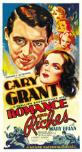 "Movie Posters:Romance, Romance and Riches (Grand National, 1937). Three Sheet (41"" X 81"")...."