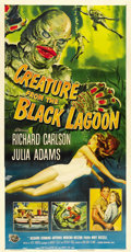 "Movie Posters:Horror, Creature From the Black Lagoon (Universal International, 1954).Three Sheet (41"" X 81""). ..."