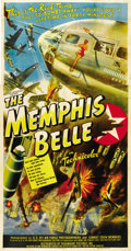 "Movie Posters:War, The Memphis Belle (Paramount, 1944). Three Sheet (41"" X 81""). ..."
