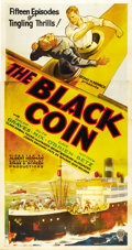 "Movie Posters:Serial, The Black Coin (Stage and Screen Productions, 1936). Three Sheet(41"" X 81""). ..."