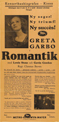 "Movie Posters:Romance, Greta Garbo Swedish Posters (MGM, 1930-31). Swedish (2) (12.25"" x25.5""). ... (Total: 2 Items)"
