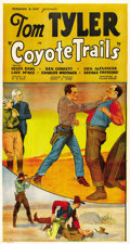 """Movie Posters:Western, Coyote Trails (Reliable Pictures Corp., 1935). Three Sheet (41"""" X 81"""")...."""