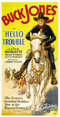 "Movie Posters:Western, Hello Trouble (Columbia, 1932). Three Sheet (41"" X 81""). ..."