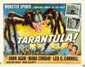 "Movie Posters:Science Fiction, Tarantula (Universal International, 1955). Half Sheet (22"" X 28"")Style A...."
