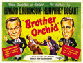 "Movie Posters:Crime, Brother Orchid (Warner Brothers, R-1950s). British Quad (30"" X40""). ..."