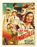 """Movie Posters:War, Passage to Marseille (Warner Brothers, c. 1947). First Post-WarBelgian (11.25"""" X 14.5""""). ..."""