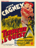 "Movie Posters:Western, The Oklahoma Kid (Warner Brothers, 1939). French Grande (47"" X63""). ..."
