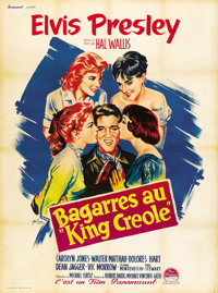 """King Creole (Paramount, 1958). French Grande (47"""" X 63"""")"""