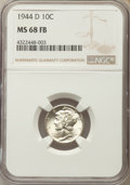 1944-D 10C MS68 Full Bands NGC. NGC Census: (32/0). PCGS Population (93/0). Mintage: 62,224,000. ...(PCGS# 5053)