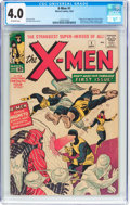 Silver Age (1956-1969):Superhero, X-Men #1 (Marvel, 1963) CGC VG 4.0 Off-white pages....