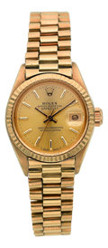Estate Jewelry:Watches, Rolex Lady's Gold President Watch, circa 1975. ...
