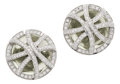Estate Jewelry:Earrings, Prasiolite, Diamond, White Gold Earrings, Eli Frei. ... (Total: 2Items)