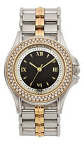 Estate Jewelry:Watches, Mauboussin Lady's Diamond, Gold, Stainless Steel Watch. ...
