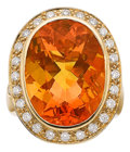 Estate Jewelry:Rings, Fire Opal, Diamond, Gold Ring, Paula Crevoshay . ...