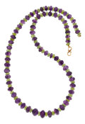 Estate Jewelry:Necklaces, Peridot, Amethyst, Gold Necklace. ...