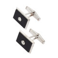Estate Jewelry:Cufflinks, Black Onyx, Diamond, White Gold Cuff Links. ... (Total: 2 Items)