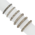 Estate Jewelry:Rings, Art Deco Platinum, White Gold Rings. ... (Total: 6 Items)