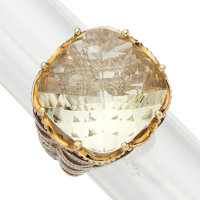 Citrine, Gold, Sterling Silver Ring, Tacori