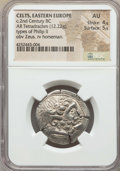 Ancients:Celtic, Ancients: DANUBIAN BASIN. Imitating Philip II (ca. 3rd-2nd centuryBC). AR tetradrachm (12.22 gm). ...