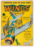Golden Age (1938-1955):War, Wings Comics #7 (Fiction House, 1941) Condition: VG-....