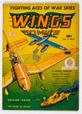 Golden Age (1938-1955):War, Wings Comics #9 (Fiction House, 1941) Condition: VG-....