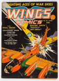 Golden Age (1938-1955):War, Wings Comics #10 (Fiction House, 1941) Condition: VG-....