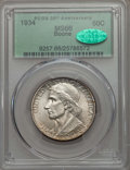 Commemorative Silver, 1934 50C Boone MS66 PCGS. CAC. PCGS Population (254/50). NGC Census: (180/22). Mintage: 10,007. CDN Wsl. Price for problem ...