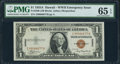 Small Size:World War II Emergency Notes, Fr. 2300 $1 1935A Hawaii Silver Certificate. Z-B Block. PMG Gem Uncirculated 65 EPQ.. ...