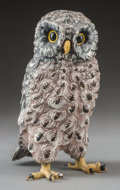Sculpture, An Austrian Cold Painted Bronze Owl, 20th century. 5 inches high (12.7 cm). ...