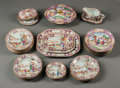 Asian:Chinese, A Thirty-One Piece Chinese Mandarin Porcelain Partial DinnerService, circa 1900. 4-1/2 h x 11-1/2 w x 9 d inches (11.4 x 29...(Total: 31 Items)