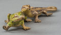 Bronze:European, An Austrian Cold Painted Bronze Group of Intertwined Lizards, early20th century. 5-1/2 inches long (14.0 cm). ...