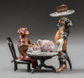Sculpture, An Austrian Cold Painted Bronze Figural Group: Dachshund Cafe, late 20th century. Marks: AUSTRIA. 2-1/4 inches h...
