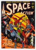 Golden Age (1938-1955):Science Fiction, Space Action #1 (Ace, 1952) Condition: VG/FN....
