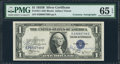 Small Size:Silver Certificates, Dual Autographed Fr. 1611 $1 1935B Silver Certificate. PMG Gem Uncirculated 65 EPQ.. ...