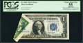 Error Notes:Foldovers, Fr. 1606 $1 1934 Silver Certificate. PCGS Apparent Choice About New55.. ...