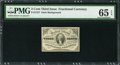 Fractional Currency:Third Issue, Fr. 1227 3¢ Third Issue PMG Gem Uncirculated 65 EPQ.. ...