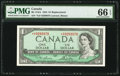 Canadian Currency: , BC-37dA $1 1954 Replacement *X/F Prefix.. ...