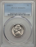 Jefferson Nickels, 1946-S 5C MS66 Full Steps PCGS. PCGS Population (58/1). NGC Census: (1/0). ...