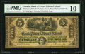 Canadian Currency: , Charlotte Town, PEI- Bank of Prince Edward Island $5 Jan. 1, 1877CH. # 600-12-12a. ...