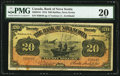Canadian Currency: , Halifax, NS- Bank of Nova Scotia $20 Feb. 1, 1918 Ch. # 550-28-16....