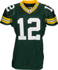 Football Collectibles:Uniforms, 2011 Aaron Rodgers Game Worn Green Bay Packers Jersey from NFL Season Opener....