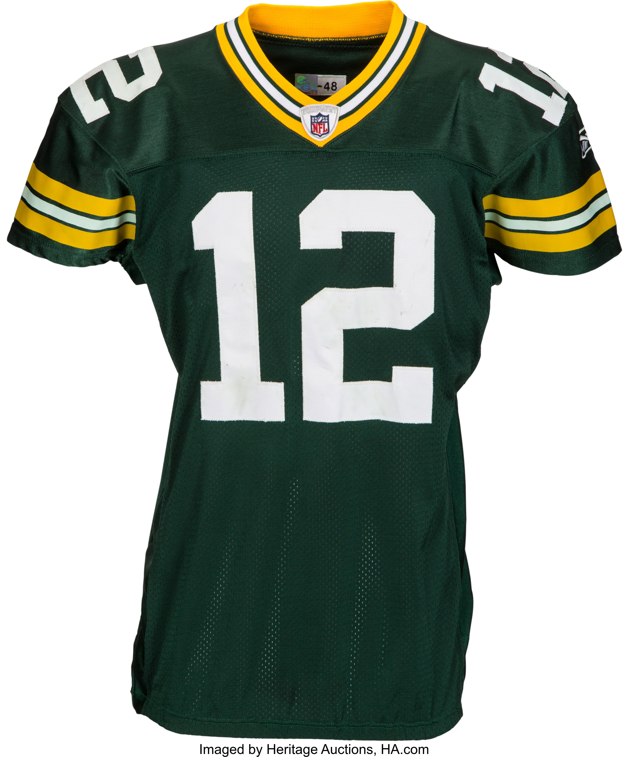 best cheap 119d7 d9cc0 2011 Aaron Rodgers Game Worn Green Bay Packers Jersey from ...